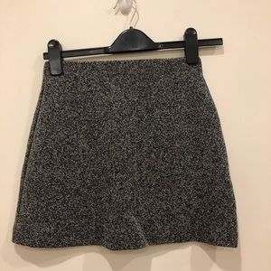Mini Topshop gray skater skirt